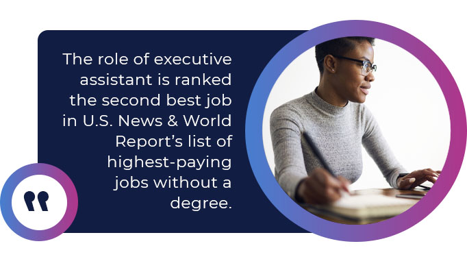 executive assistant high pay quote
