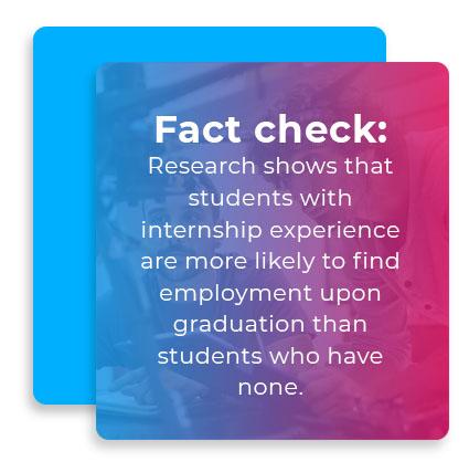 fact check internship experience