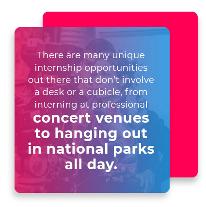 unique internship opportunities quote