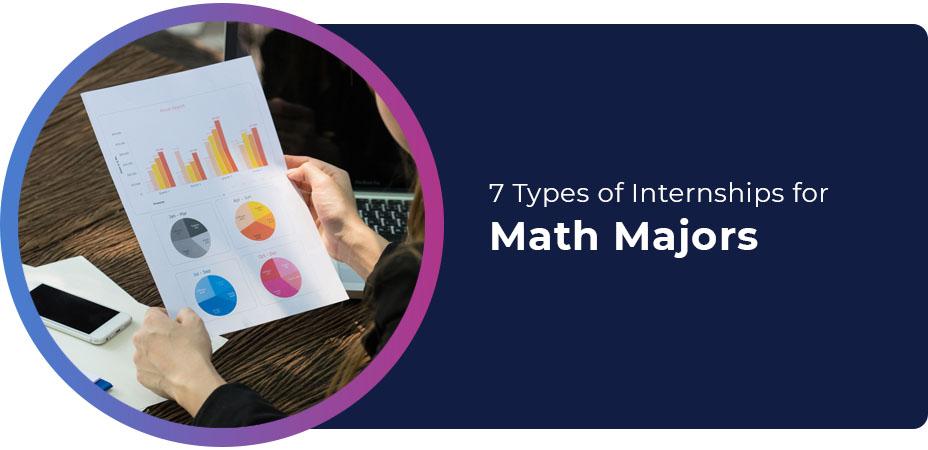 7 types internships math majors