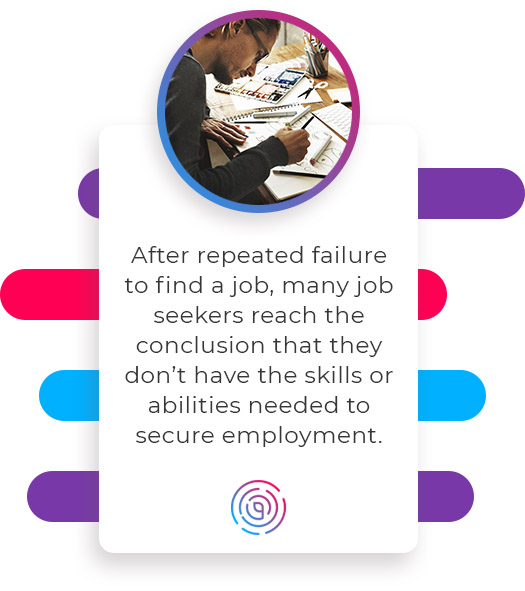 After repeated failure to find a job