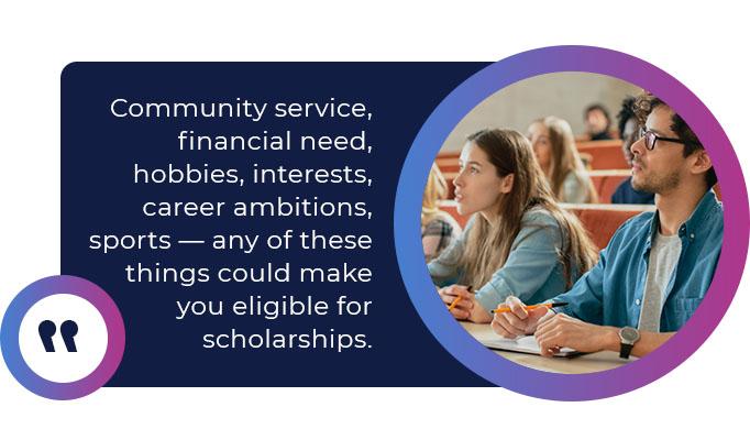 Eligibility for certain scholarships