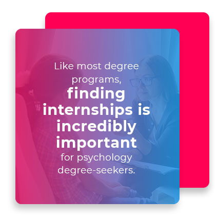 Finding internships is incredibly important