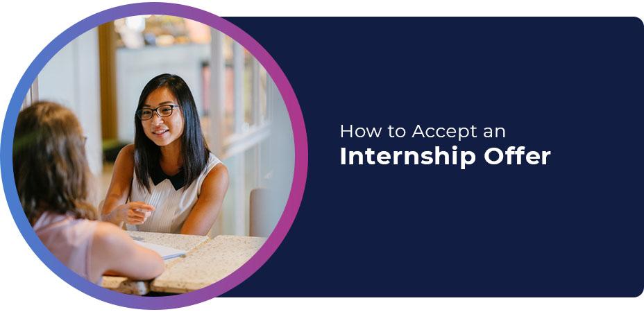 How to Accept an Internship Offer