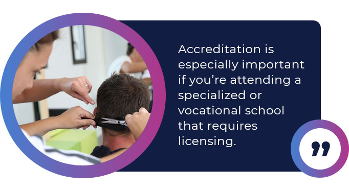 accreditation importance vocational school quote