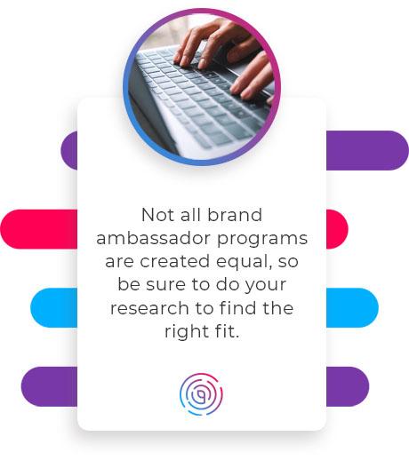 ambassador brand program quote