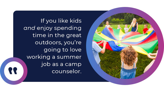 camp counselor job quote