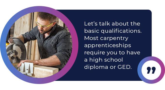 carpentry apprenticeships require diploma