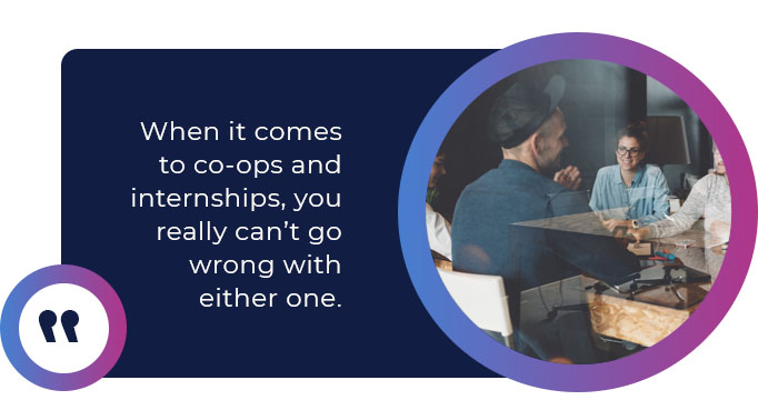 co-ops internships quote