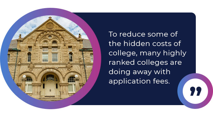 colleges remove application fees quote