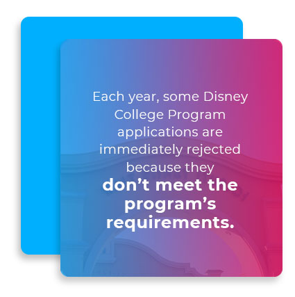 disney college applications graphic