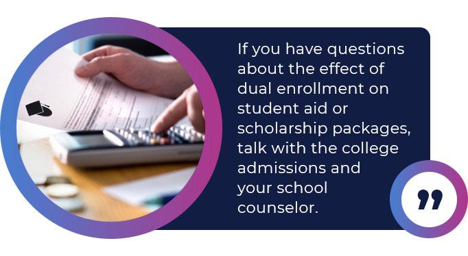 dual enrollment questions quote