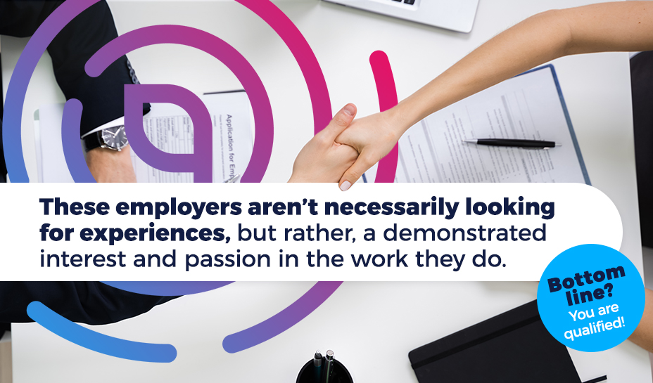 employers looking for experiences graphic