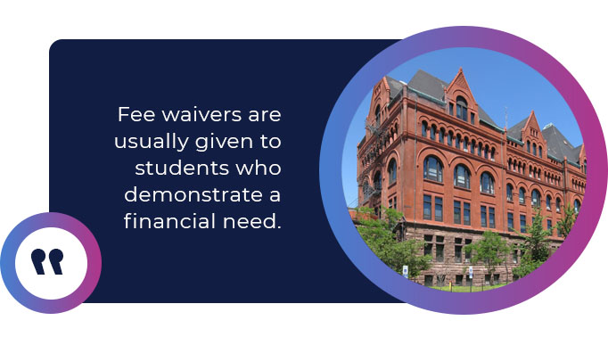 fee waivers quote