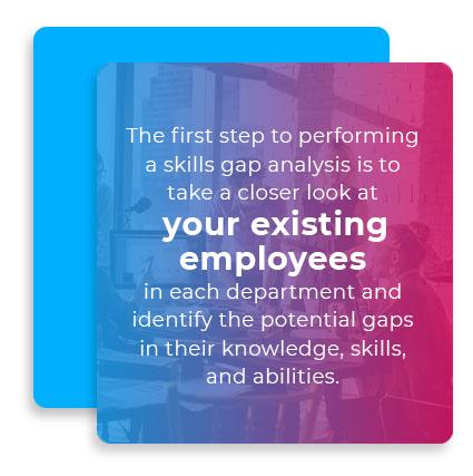 first step skills gap graphic