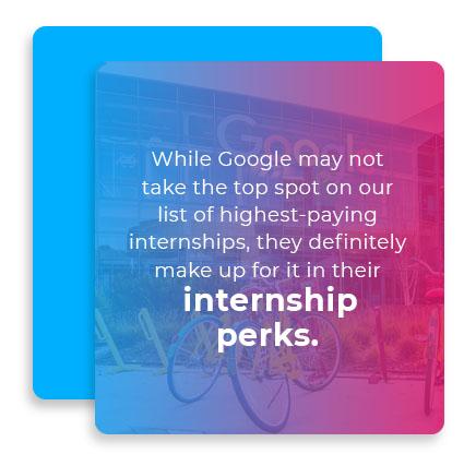 google internship perks graphic