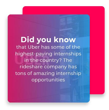 high pay uber internship graphic