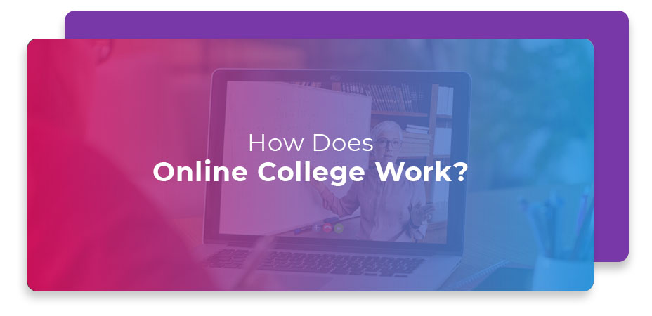 how does online college work
