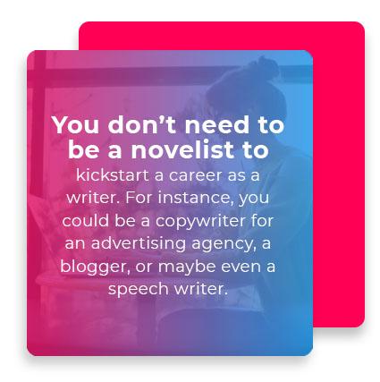kickstart writers career quote