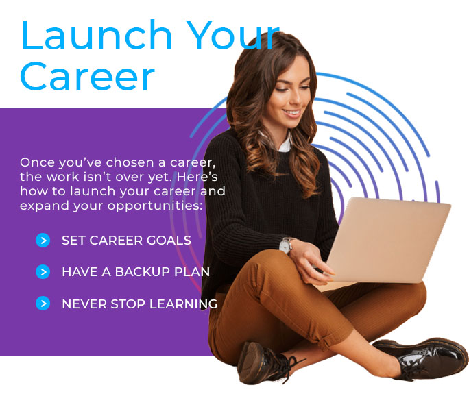 launch your career graphic