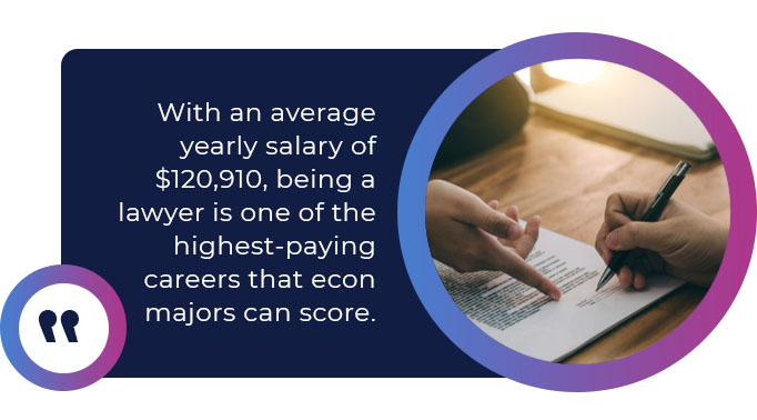 lawyer salary econ major quote