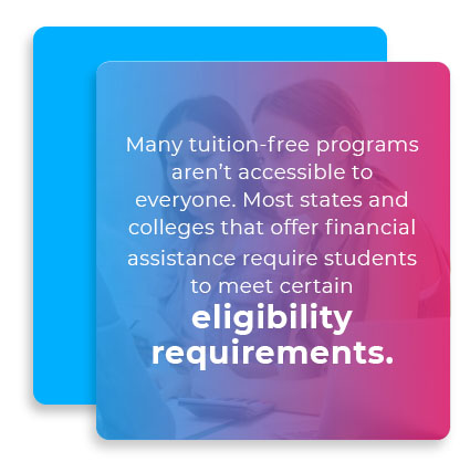 most colleges eligibility requirements quote