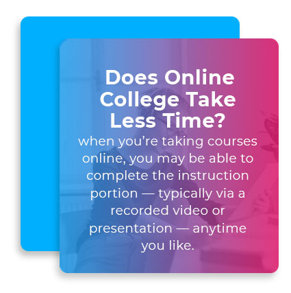 online college less time quote