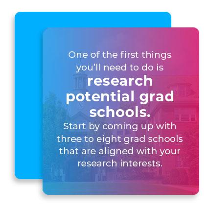 research potential grad schools