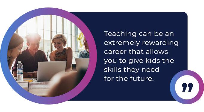 rewarding teaching career quote