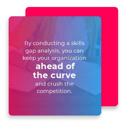 skills gap analysis graphic