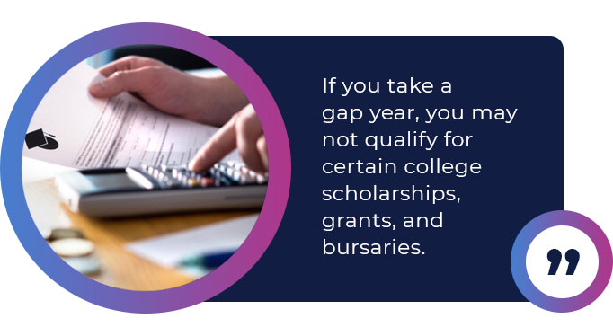taking a gap year scholarships quote