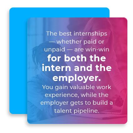 the best internships quote