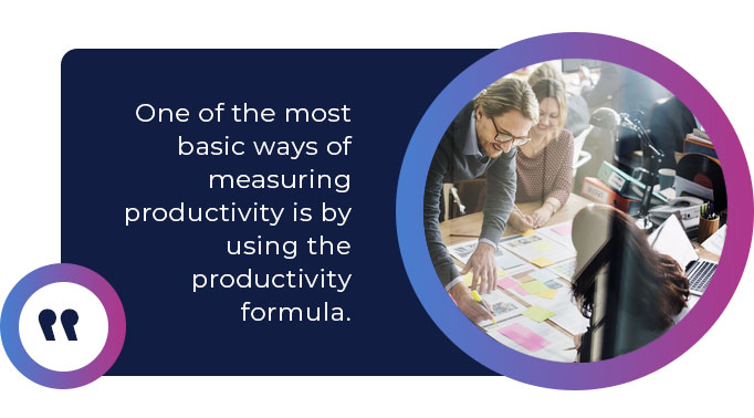 using the productivity formula
