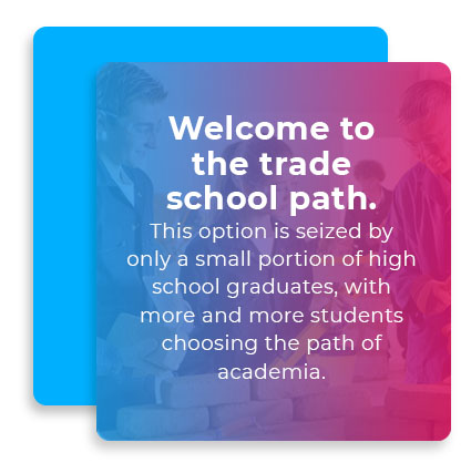 welcome to trade school path quote