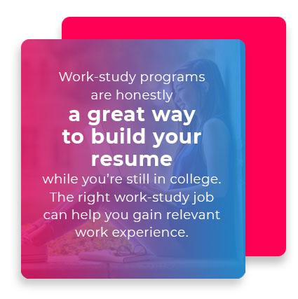 work study programs build resume quote